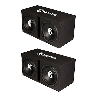 $798.99 • Buy Memphis Audio Street Reference Dual 12  Ported Car Subwoofer Enclosure (2 Pack)