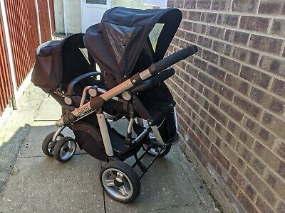 ICANDY Apple 2 Pear Single/Double Tandem  Pushchair Front/Rear Facing Stroller • 250£