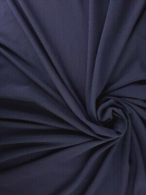 £11.58 • Buy 60  Wide 4 Way Stretch Thick Poly Knit Navy Blue Fabric Sold By The Yard