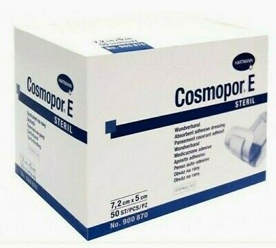 £8.28 • Buy Cosmopor E Sterile First Aid Absorbent Adhesive Wound Dressing 7.2 X 5 Cm X 50