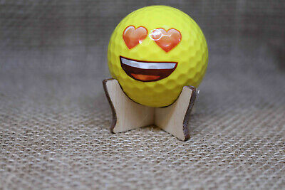 Golf Ball Display Stand Plywood Signed Autographed Holder • 4.32£