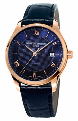$719 • Buy Frederique Constant Classics Index Automatic Blue Leather Mens Watch FC-303MN5B4