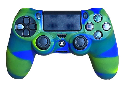AU7.90 • Buy Silicone Cover For PS4 Controller Case Skin -  Blue/Green Swirls