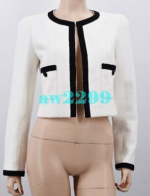 £919.68 • Buy Chanel Cruise 1998 Color Block Crop Jacket Cc Logo Buttons 38 New