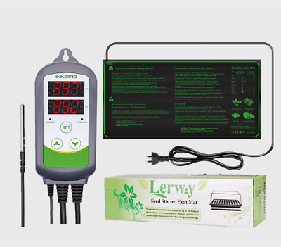 AU48.59 • Buy Inkbird Temp Controller Thermostat + Seedlings Heating Mat Seed Plant Starter AU