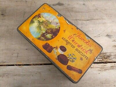 Collectable Rare Vintage C1930's Jacob's Warwick Assorted Biscuits Tin • 12.75£