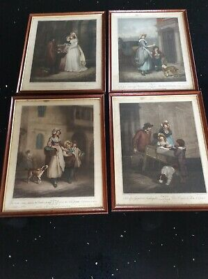 "4 X Vintage Framed Prints - Cries Of London - 10 "" X 12.5""  • 25£"