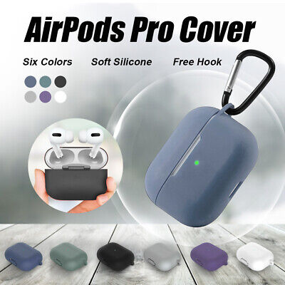 AU3.89 • Buy For Apple AirPods Pro Silicone Case Slim Skin LED Visible Anti Lost Shockproof