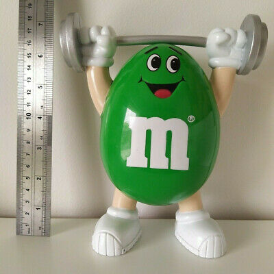 Vintage 1991 Mars Inc M&M Green Weight-Lifter Figure, Dispenser Chocolate/Sweets • 9.99£