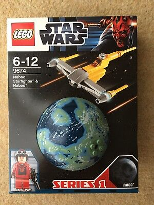 Lego 9674 Star Wars Naboo Starfighter - Planets - Series 1 - NEW • 17£