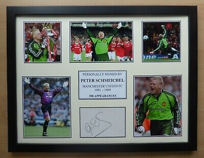 Peter Schmeichel Signed Manchester United Multi Picture Career Display (17316) • 40£