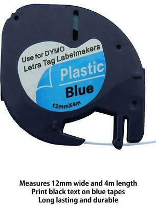 AU7.50 • Buy 1PK 91205 Compatible Dymo LetraTag LT-100H Blue Plastic Label Tape 12mm X 4m