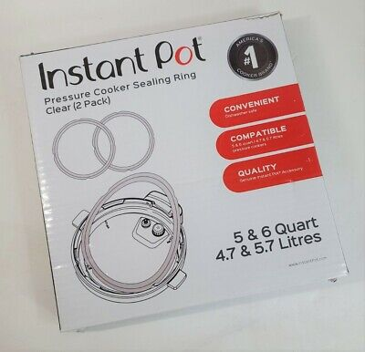 $12.45 • Buy Genuine Instant Pot Sealing Ring 2 Pack Clear 8 Quart  OEM Genuine USA Clear