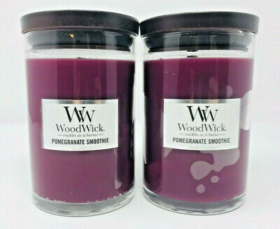$49.99 • Buy Woodwick Candles Lot Pomegranate Smoothie 10.8oz Medium Jar Candle Rare