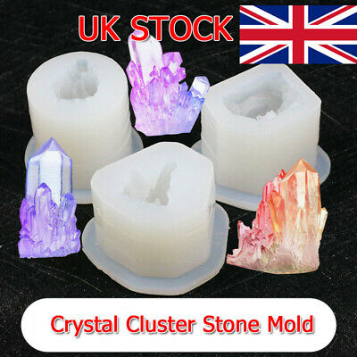 Silicone 3D Crystal Cluster Stone Resin Casting Mold Jewelry Making Mould Craft • 5.99£