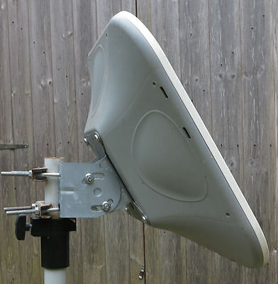 Flat 440 Dish Antenna C/w LNB Compact Easy Store Camping Caravaners Temporary  • 63.50£