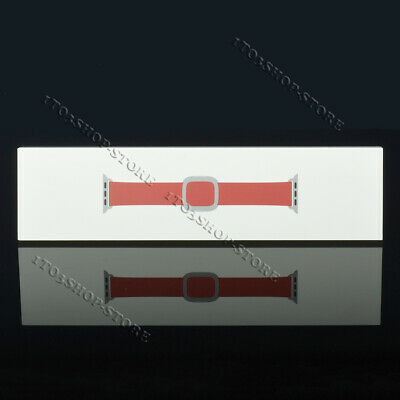 $ CDN108.67 • Buy Genuine Apple Watch Leather Modern Band Series 3 / 2 / 1 - Ruby Red 38mm M Size