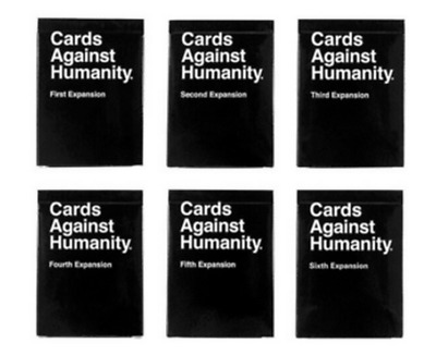 AU48.50 • Buy Cards Against Humanity Expansion Packs 1,2,3,4,5,6 -