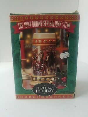 $ CDN26.63 • Buy Lot Of 2 - 1993 Special Delivery Budweiser Holiday Stein & 1994 Holiday Stein