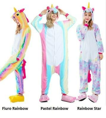 AU38.99 • Buy  Unisex Cartoon Unicorn Onesie69 Sleepwear Unisex Animal Costume Cosplay Pyjamas