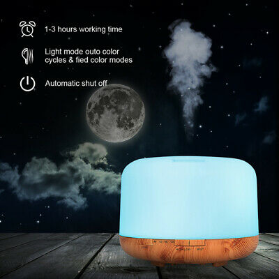 AU28.79 • Buy 500ml Remote Control Ultrasonic Humidifier Essential Oil Diffuser Aromatherapy