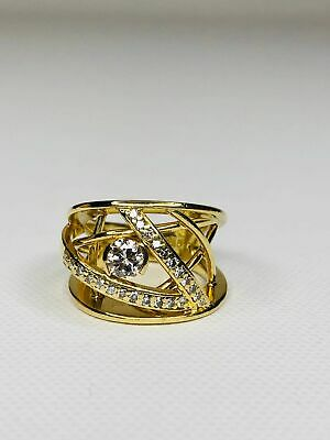 $1600 • Buy Jose Hess Diamond Cocktail Ring In 18kt Yellow Gold
