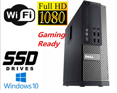 Gaming PC Desktop Computer I7 16GB 128GB SSD+1TB HD6450 Windows 10 Pro WIFI • 185.17£
