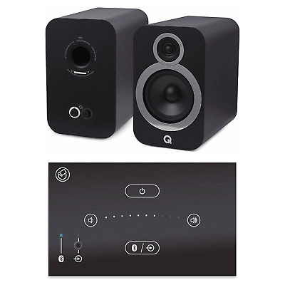 Home Music System With Black Systemline E50 & Q Acoustics 3030i Speakers - Black • 528£