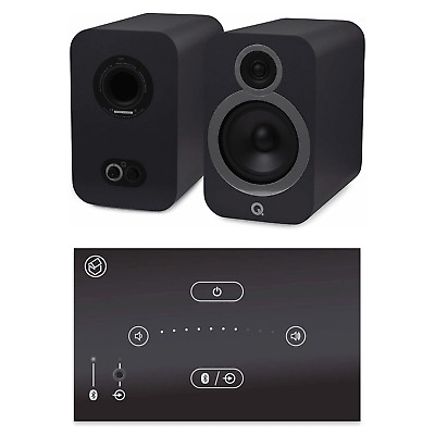 Home Music System With Black Systemline E50 & Q Acoustics 3030i Speakers - Grey • 528£