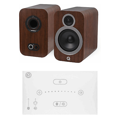 Home Music System With White Systemline E50 & Q Acoustics 3030i Speakers - Brown • 528£