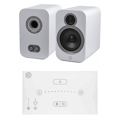Home Music System With White Systemline E50 & Q Acoustics 3030i Speakers - White • 528£