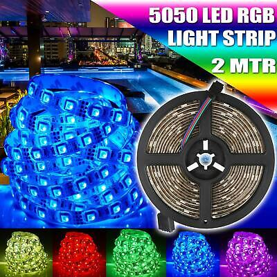 $5.79 • Buy 5050 RGB LED 2 Meters Strip Only Light Colour Changing TV Back Mood Lighting