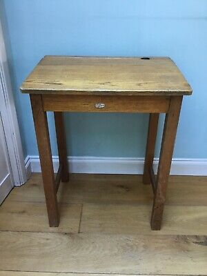 Vintage Wooden School Desk • 50£