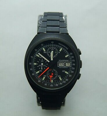 $ CDN993.35 • Buy Vintage Heuer Tourneau Chronograph Automatic Lemania 5100 Ref510.503-1 Black Pvd