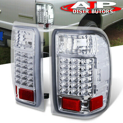 $104.99 • Buy Chrome Clear Replacement LED Tail Lights Brake Lamps For 2001-2011 Ford Ranger
