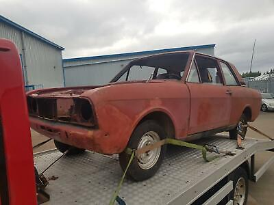 Ford Cortina MK2 2 Door - Rolling Shell - LHD • 1,800£