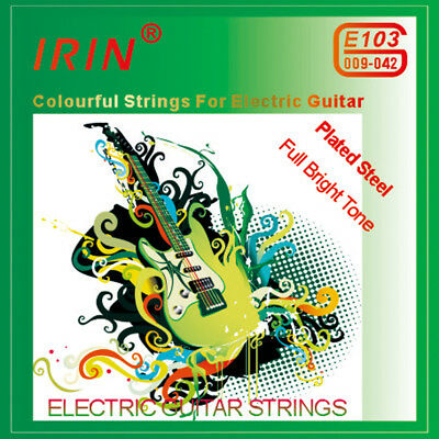 $ CDN6.36 • Buy IRIN E103 6pcs/set 0.009-0.042 Electric Guitar Strings Steel Colorful Strings