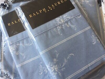 Ralph Lauren Rosecliff Meredith Floral Blue Percale Duvet Cover Set Superking • 399.99£