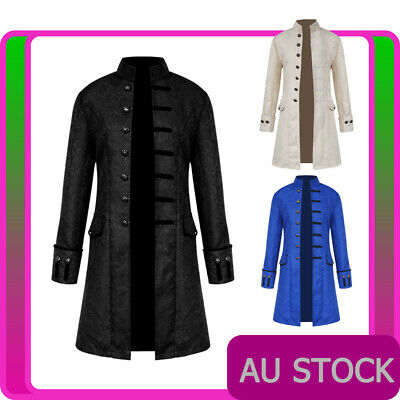 Mens Vintage Steampunk Costume Tailcoat Jacket Gothic Victorian Frock Coat • 26.58£