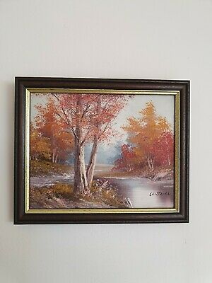 $ CDN129.57 • Buy Antique Gilt Framed Oil On Canvas Painting Woodland Scene River Signed Cantrell