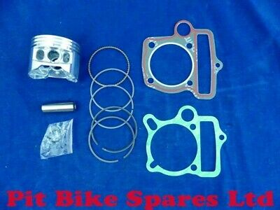 Piston Kit & Gaskets For YX140cc Pit Bike Engine. Genuine Part. 56mm YX140 • 23£