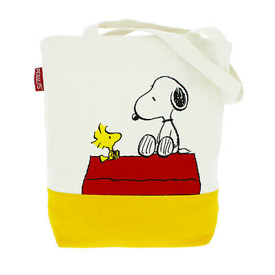 Snoopy And Woodstock Canvas Peanuts Tote Bag • 19.99£
