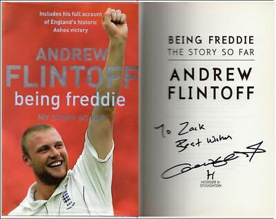 "Signed Autobiography: ANDREW FLINTOFF  Being Freddie,The Story So Far"" ""To Zack  • 12£"