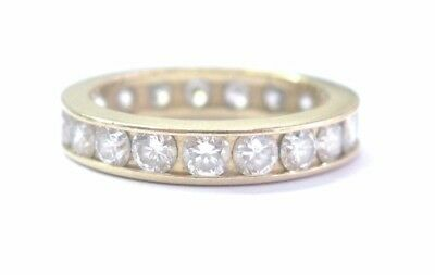 $2250 • Buy Round Diamond Channel Set Eternity Band 19-Stones Yellow Gold 14Kt 2.00Ct 3.8mm
