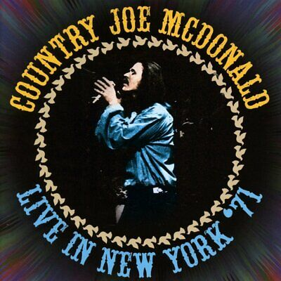 Country Joe McDonald - Live In New York '71 (2016)  2CD  NEW/SEALED  SPEEDYPOST • 6.95£