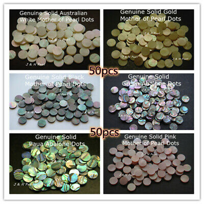 50pcs,1.5-12mm Abalone & Mother Of Pearl Inlay Dots For Guitar Banjo Ukulele • 7.59£