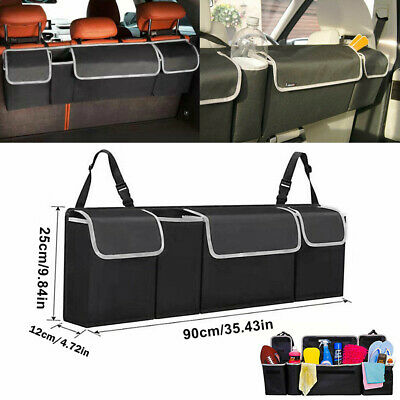 $13.59 • Buy 1X Car Trunk Organizer Car Interior Accessories Back Seat Oxford Storage Box Bag