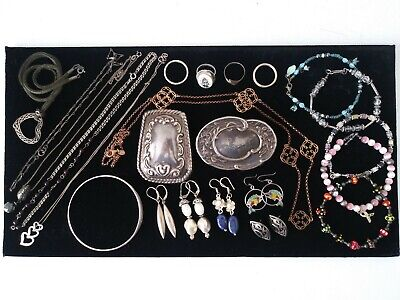 $ CDN74.84 • Buy Vtg 925 Sterling Silver HUGE Jewelry Lot 194.1g Bracelet Earrings Ring Necklaces