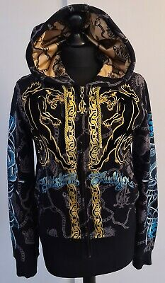 Christian Audigier/Ed Hardy Womens Black Panther Hoodie Size Medium  • 259.99£