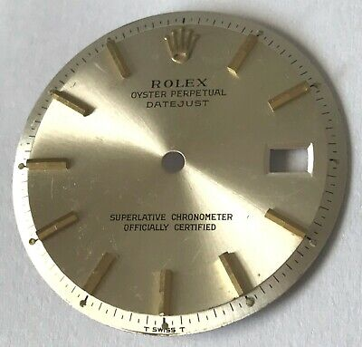 $ CDN120.84 • Buy Rare Rolex Men's Silver Pie Pan OP DateJust Dial With Yellow Markers NO RESERVE!